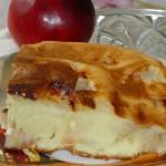 Сметанный яблочный пирог